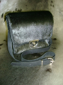 Black seal purse